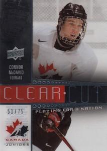 2014 Upper Deck Team Canada Juniors Clear Cut Connor McDavid