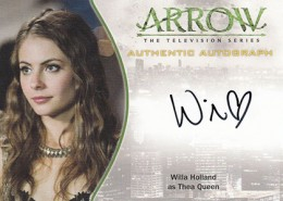 2015 Cryptozoic Arrow Autographs A4 Willa Holland