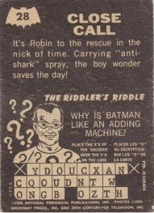1966 Riddler Back Back