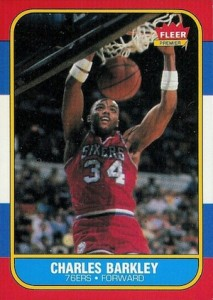 1986-87 Fleer Charles Barkley RC #82