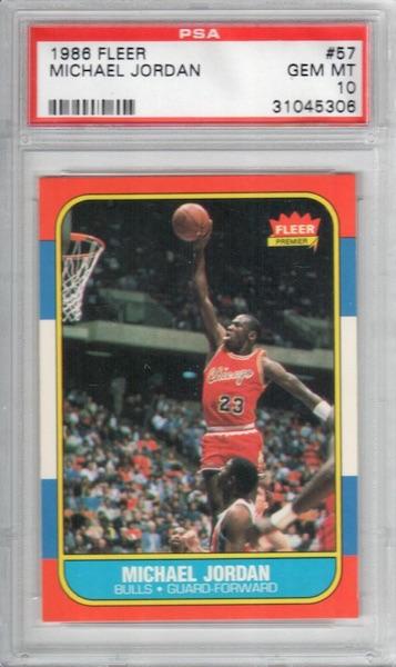 1986-87 Fleer Michael Jordan RC #57 PSA 10