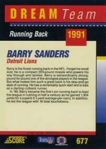 Top Barry Sanders Cards of All-Time 8