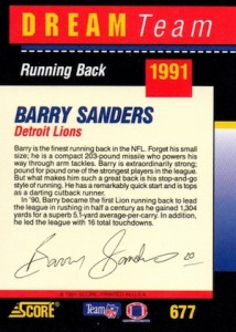 Top Barry Sanders Cards of All-Time 10