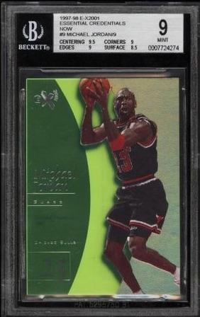 1997-98 E-X2001 Essential Credentials Now Michael Jordan #9 #:9 BGS 9