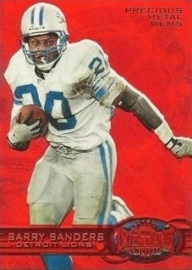 1997 Fleer Metal Precious Metal Gems PMG Parallel Red Barry Sanders #162
