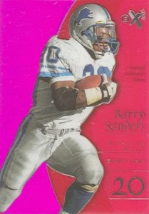 1998 E-X2001 Essential Credentials Future Parallel Barry Sanders #5