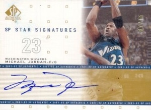 2001-02 SP Authentic Star Signatures Michael Jordan #MJ-S