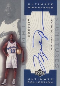 Top 20 Michael Jordan Washington Wizards Autograph Cards 2