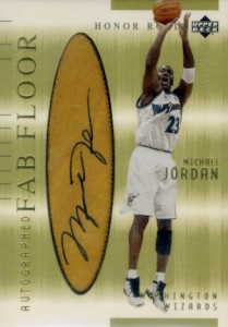 2001-02 Upper Deck Honor Roll Autographed Fab Floor Michael Jordan #2