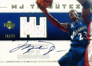 2001-02 Upper Deck MJ Tributes Portrait of a Champion Michael Jordan #PCJ4