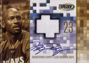 2001-02 Upper Deck Playmakers Player's Club Autographs Michael Jordan