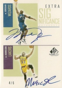 2002-03 SP Game Used Extra SIGnificance Autographs Gold Michael Jordan Magic Johnson