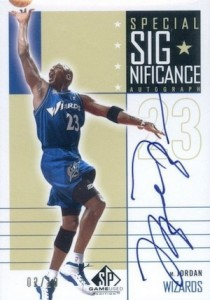 2002-03 SP Game Used Special SIGnificance Autograph Gold Michael Jordan #MJ