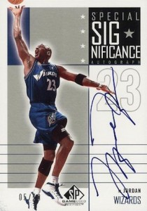 Top 20 Michael Jordan Washington Wizards Autograph Cards 11