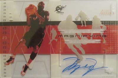 2002-03 UD Glass Magnifying Glass Autographs Box Topper Michael Jordan #MJ-A