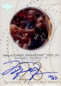 Top 20 Michael Jordan Washington Wizards Autograph Cards 18
