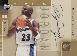 2002-03 Upper Deck Finite Signatures Gold Michael Jordan