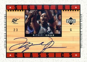 Top 20 Michael Jordan Washington Wizards Autograph Cards 20