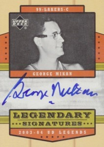 2003-04 Upper Deck Legends Legendary Signatures George Mikan #LS-GM