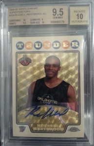 2008-09 Russell Westbrook Topps Chrome Superfractor Auto Rookie Card  BGS 9.5 3