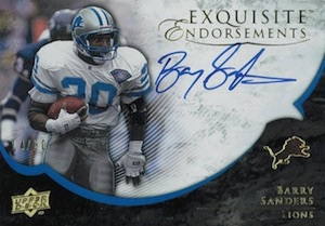2008 Exquisite Collection Endorsements Barry Sanders #EE-BS Autograph