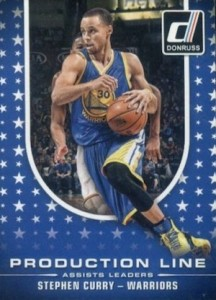 2014-15 Donruss Basketball Production Line Assists Curry