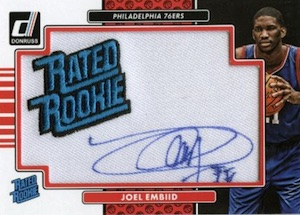 2014-15 Donruss Basketball Rated Rookie Signature Patches Joel Embiid