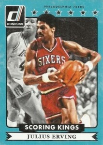2014-15 Donruss Basketball Scoring Kings Julius Erving