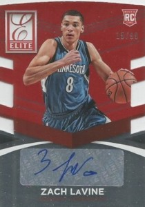 2014-15 Donruss Basketball Status Signatures Red Die-Cut Zach LaVine