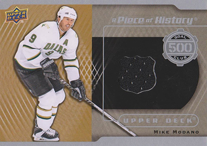 2014-15 Upper Deck Hockey Piece of History 500 Goal Club Jersey Mike Modano