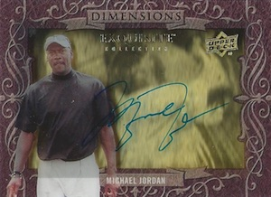 2014 Exquisite Collection Dimensions Autographs Michael Jordan #D-MJ