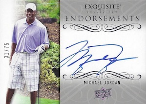 2014 Exquisite Collection Endorsements Autographs Michael Jordan #EE-MJ