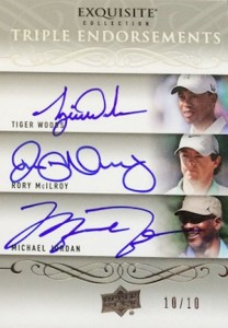 2014 Exquisite Collection Endorsements Autographs Michael Jordan Rory Tiger