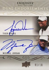 2014 Exquisite Collection Endorsements Autographs Michael Jordan Tiger