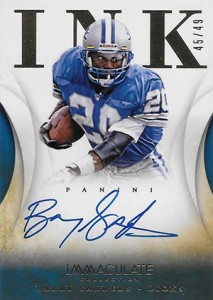 2014 Panini Immaculate Football Ink Barry Sanders