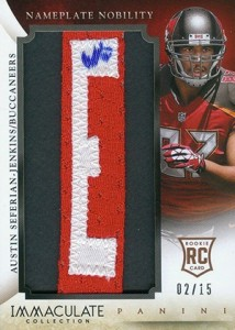 2014 Panini Immaculate Football Nameplate Nobility