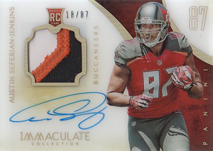 2014 Panini Immaculate Football Numbers Rookie Patch Autograph