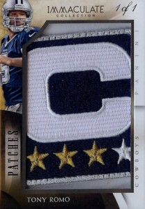 2014 Panini Immaculate Football Patches Tony Romo