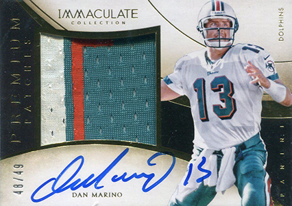 2014 Panini Immaculate Football Premium Patches Autographs