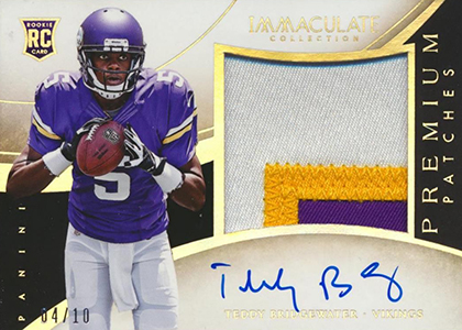 2014 Panini Immaculate Football Premium Patches Rookies Gold
