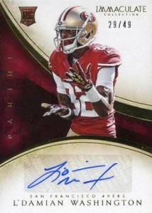 2014 Panini Immaculate Football Rookie Autograph