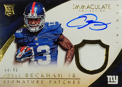 2014 Panini Immaculate Football Signature Patches Rookies