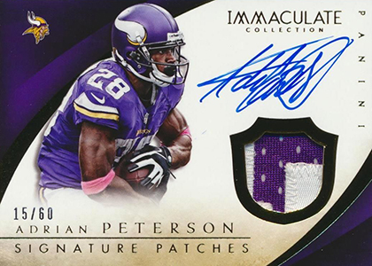 2014 Panini Immaculate Football Signature Patches