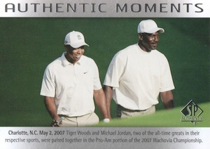 2014 SP Authentic Michael Jordan Tiger Woods Authentic Moments #69