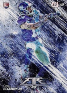 2014 Topps Fire Football Base RC Odell Beckham Jr