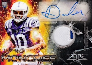 2014 Topps Fire Football Rookie Autographs Patches