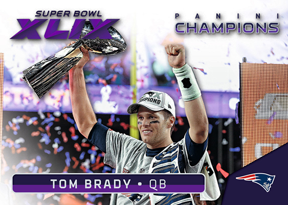 2015 Panini Super Bowl XLIX 25 Tom Brady Highlights