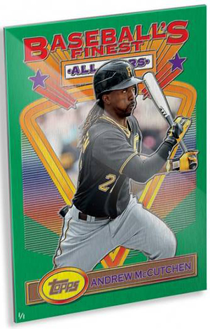 2015 Topps 1993 Finest Wall Art Andrew McCutchen Gold