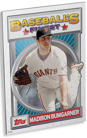 2015 Topps 1993 Finest Wall Art Madison Bumgarner