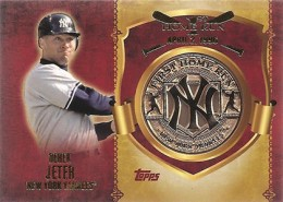 2015 Topps 1st Home Run Commemorative Coin Derek Jeter